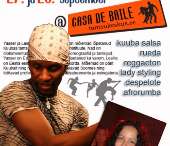 27-28. september Kuuba Salsa töötuba Yasseri ja Lesliega (täiendatud)