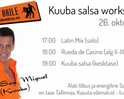 26.10 Kuuba salsa workshop Migueliga