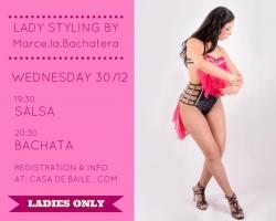 Salsa ja Bachata stilistika eritrennid naistele